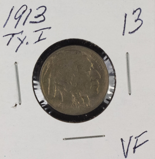 1913- TYPE I BUFFALO NICKEL - VF
