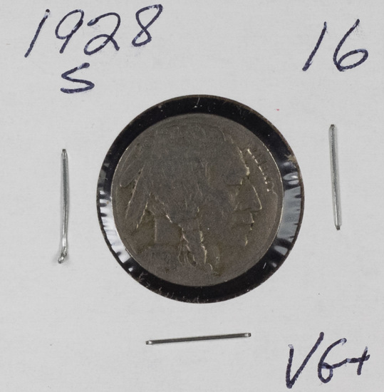 1928-S BUFFALO NICKEL - VG