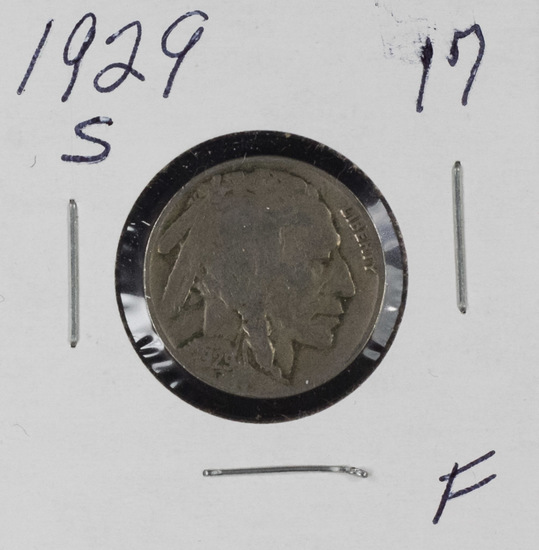 1929-S BUFFALO NICKEL - F