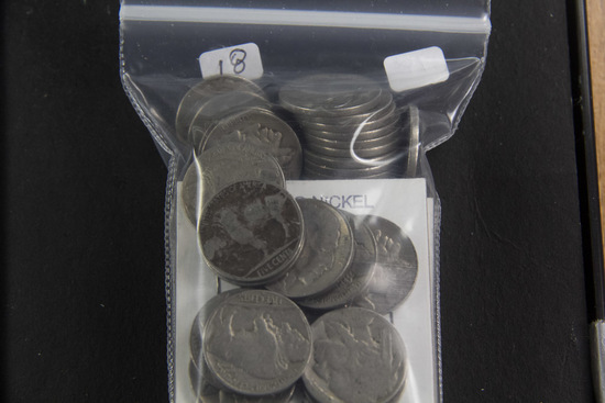 LOT OF 41 CIRC BUFFALO NICKELS