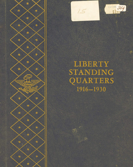 STANDING LIBERTY QUARTER WHITMAN ALBUM WITH 4 - QUARTERS