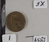 1859 - COPPER NICKEL INDIAN HEAD CENT -XF