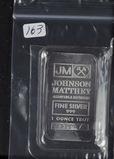 1 TROY OZ .999 FINE SILVER JOHNSON MATTHEY SILVER BAR