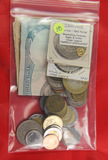 1 - LOT OF WORLD COINS AND NOTES INCLUDING GOLD & SILVER