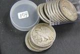 14 ( $7.00 FACE) WALKING HALF DOLLARS