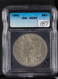 1901 1CG AU50 MORGAN DOLLAR