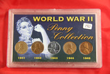 2-SET LOT - LINCOLN CENTS OF WWI & WWII