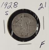 1928-S STANDING LIBERTY QUARTER - F