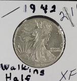1942 - WALKING LIBERTY HALF DOLLAR - XF