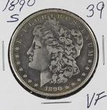1890-S MORGAN DOLLAR - VF