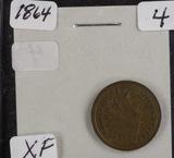 1864 - BRONZE NICKEL INDIAN HEAD CENT - XF