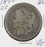 1890-CC MORGAN DOLLAR - VG