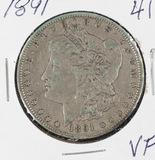 1891 - MORGAN DOLLAR - VF