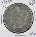1891-S  MORGAN DOLLAR - VF+