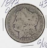 1892-O  MORGAN DOLLAR - G/VG