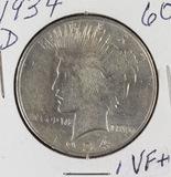 1934-D PEACE DOLLAR - VF+