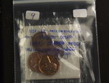 LOT OF 4 PROOF/BU LINCOLN CENTS