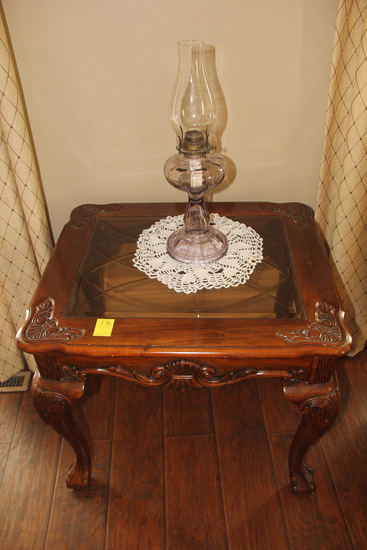 Lamp Table and Oil Lamp