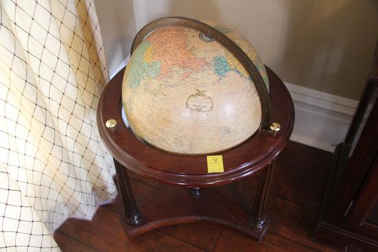 Vintage Light Up World Globe