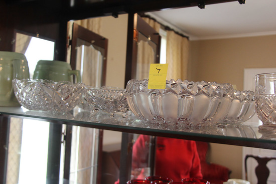 Lot of 7, Pieces of Glass Ware