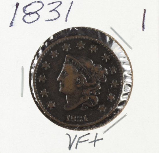 1831 - MATRON HEAD LARGE CENT - VF+