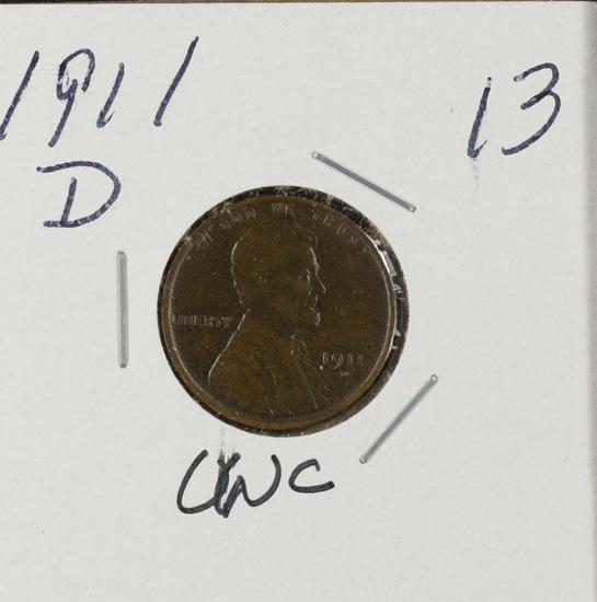 1911 D - LINCOLN CENT - UNC