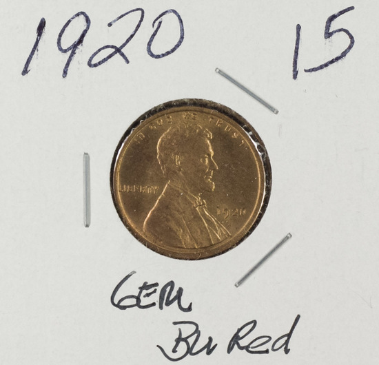 1920 - LINCOLN CENT - RD BU