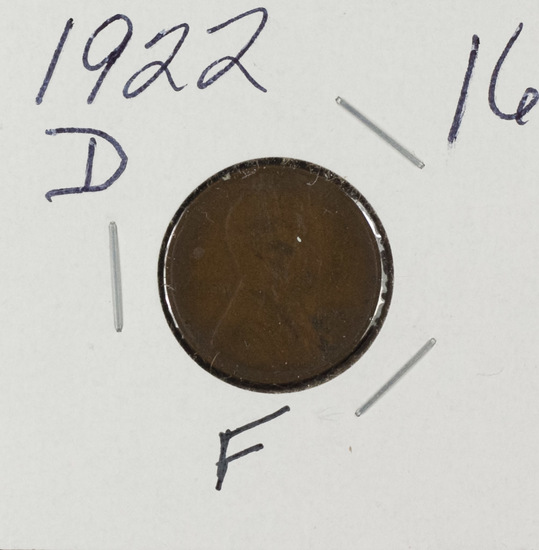 1922 D - LINCOLN CENT - F
