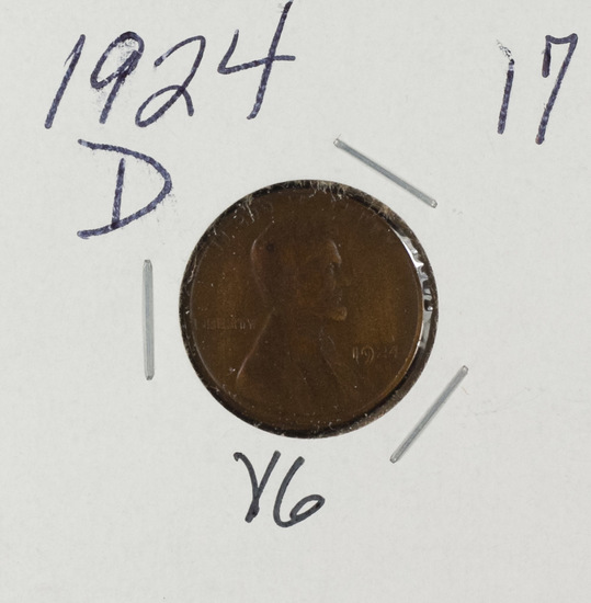 1924 D - LINCOLN CENT - VG
