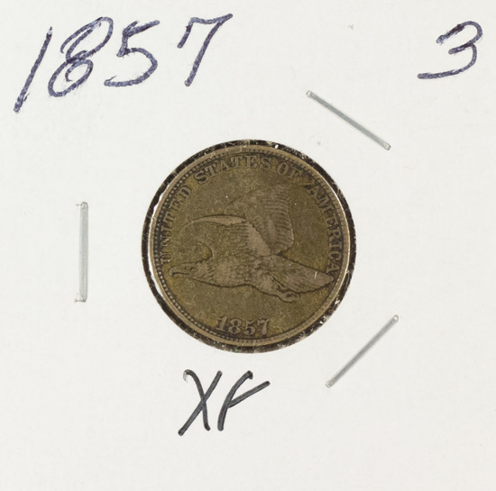 1857 - FLYING EAGLE CENT - XF