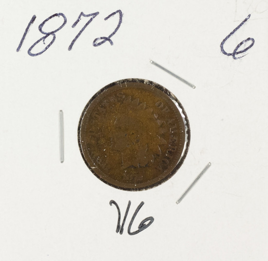 1872 - INDIAN HEAD CENT - VG