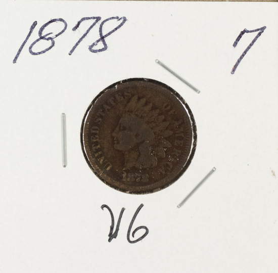 1878 - INDIAN HEAD CENT - VG