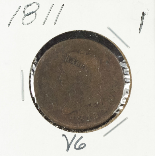 1811 - Classic Head Large Cent - VG