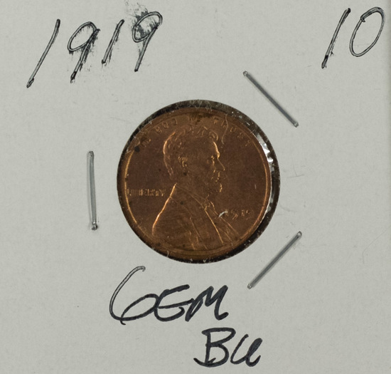 1919 - Lincoln Cent - Gem BU
