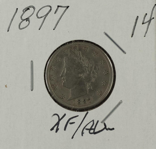 "1897 - Liberty Head ""V"" Nickel - XF/AU"