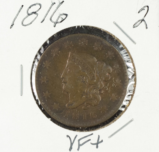 1816 - Liberty Head Large Cent - VF+