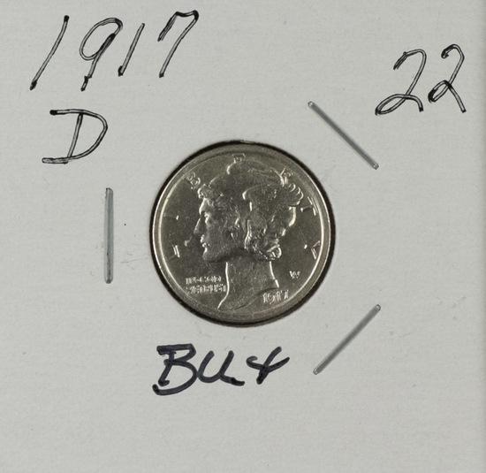 1917 D - Mercury Dime - BU