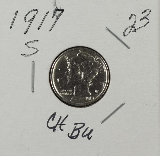 1917 S - Mercury Dime - CH BU