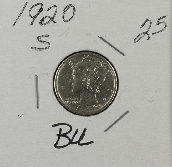 1920 S - Mercury Dime - BU