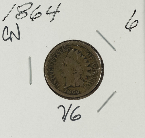 1864 CN - Indian Head Cent - VG