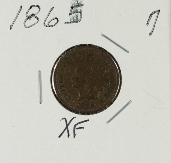 1865 CN - Indian Head Cent -XF