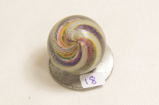 "Swirl 1 1/4"" Marble, Chipped"