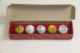 Lot of 5, Picture Marbles in Box