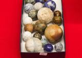 21 Stone Marbles, Assorted Sizes