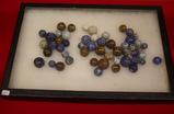 54 Stone Marbles in Jar
