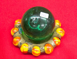 Large Green Marble with Marble Ashtray