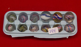 12 Small Swirl Marbles