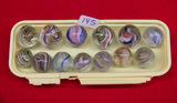 13 Small Swirl Marbles
