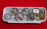 8 Small Swirl Marbles