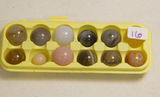 Box of 12 Small Agate Marbles